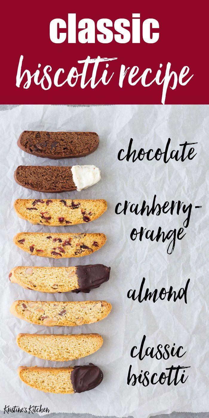 This classic biscotti recipe makes the BEST biscotti cookies Basic biscotti recipe plus recipes for almond biscotti chocolate biscotti and cranberry orange biscotti These...