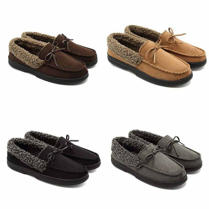 chaussures de sport 01eb6 9d4c0 Hommes Mocassins Chaussures Doublure De Fourrure En Daim ...