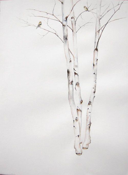 birch trees | Tattoos | Pinterest | Recuerdos, Pinturas y Madera