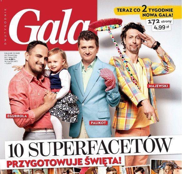 Janusz Palikot wearing De La Garza blazer and Szymon Majewski wearing De La Garza blazer for GALA April