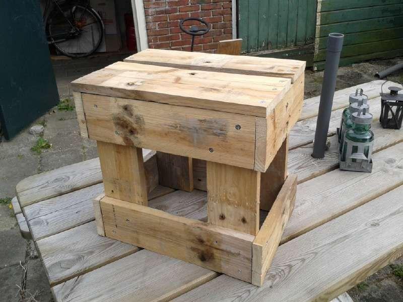 Le istruzioni per costruire uno sgabello con pallet sgabelli