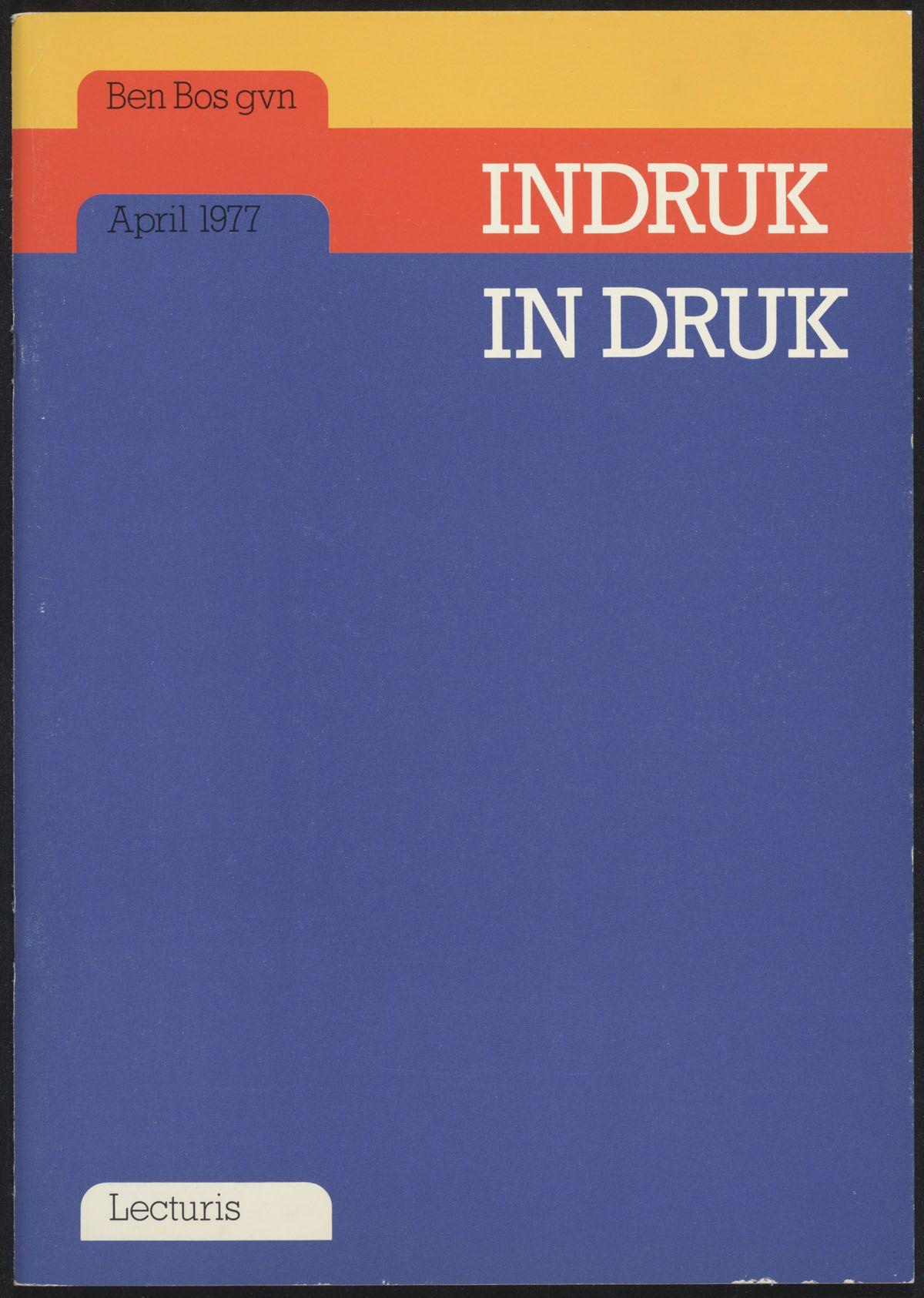 Wim Crouwel – Indruk In Druk – 1973