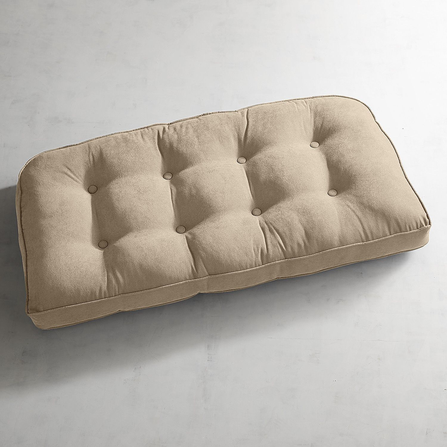 Calliope Ivory Tufted Large Contour Settee Cushion | Products ...