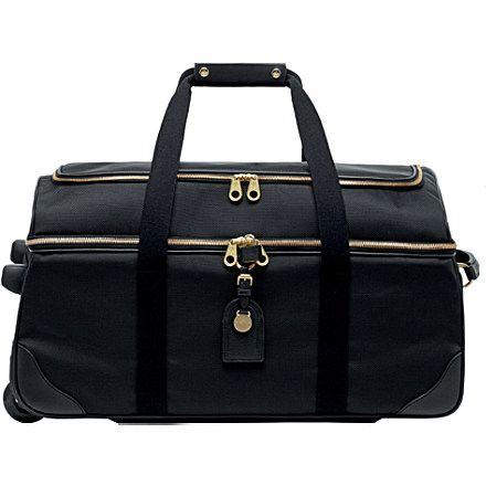 65337046058 rolling duffle bags for women | MULBERRY Henry wheeled duffel bag (Black