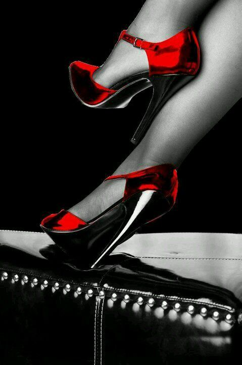 Red shoes, these are so sexy, I have red shoes, every lady should have a pair of red high heels, Honest.