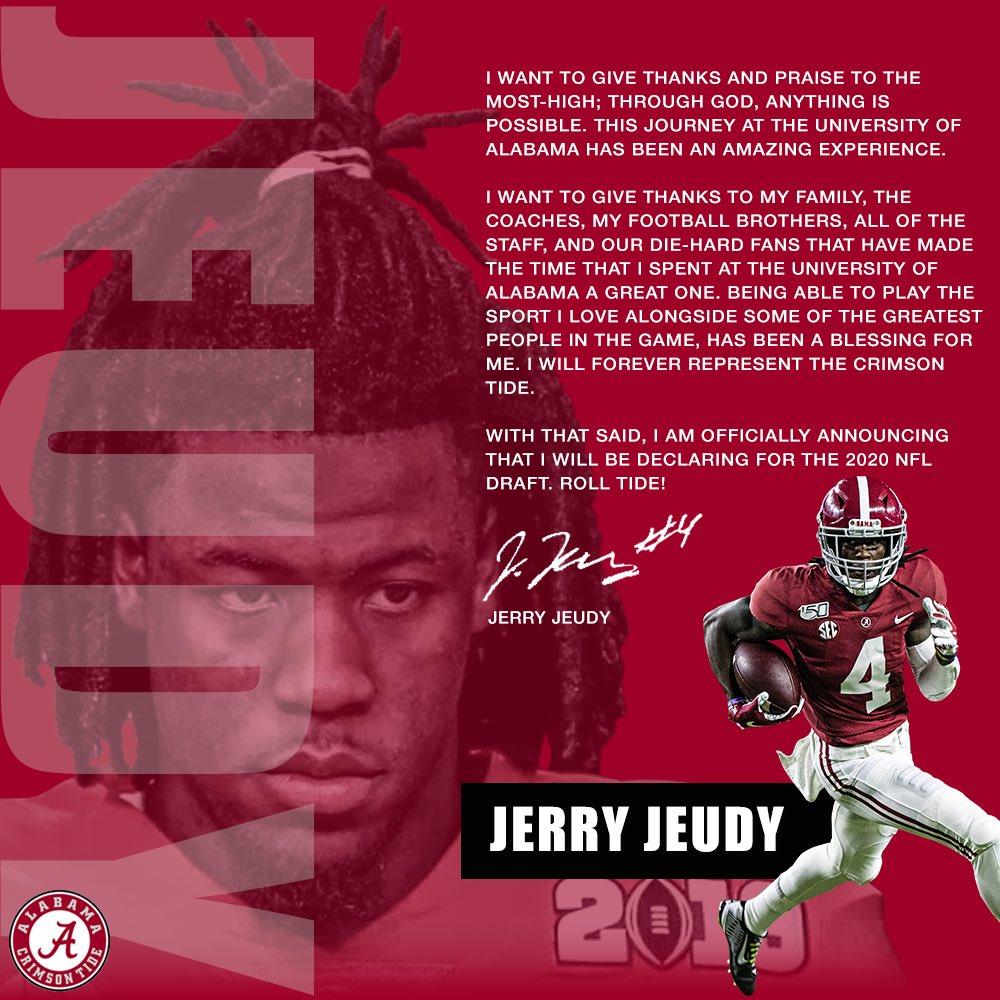 Jerry Jeudy On Twitter In 2020 Alabama Crimson Tide Football Crimson Tide Football Alabama Crimson Tide