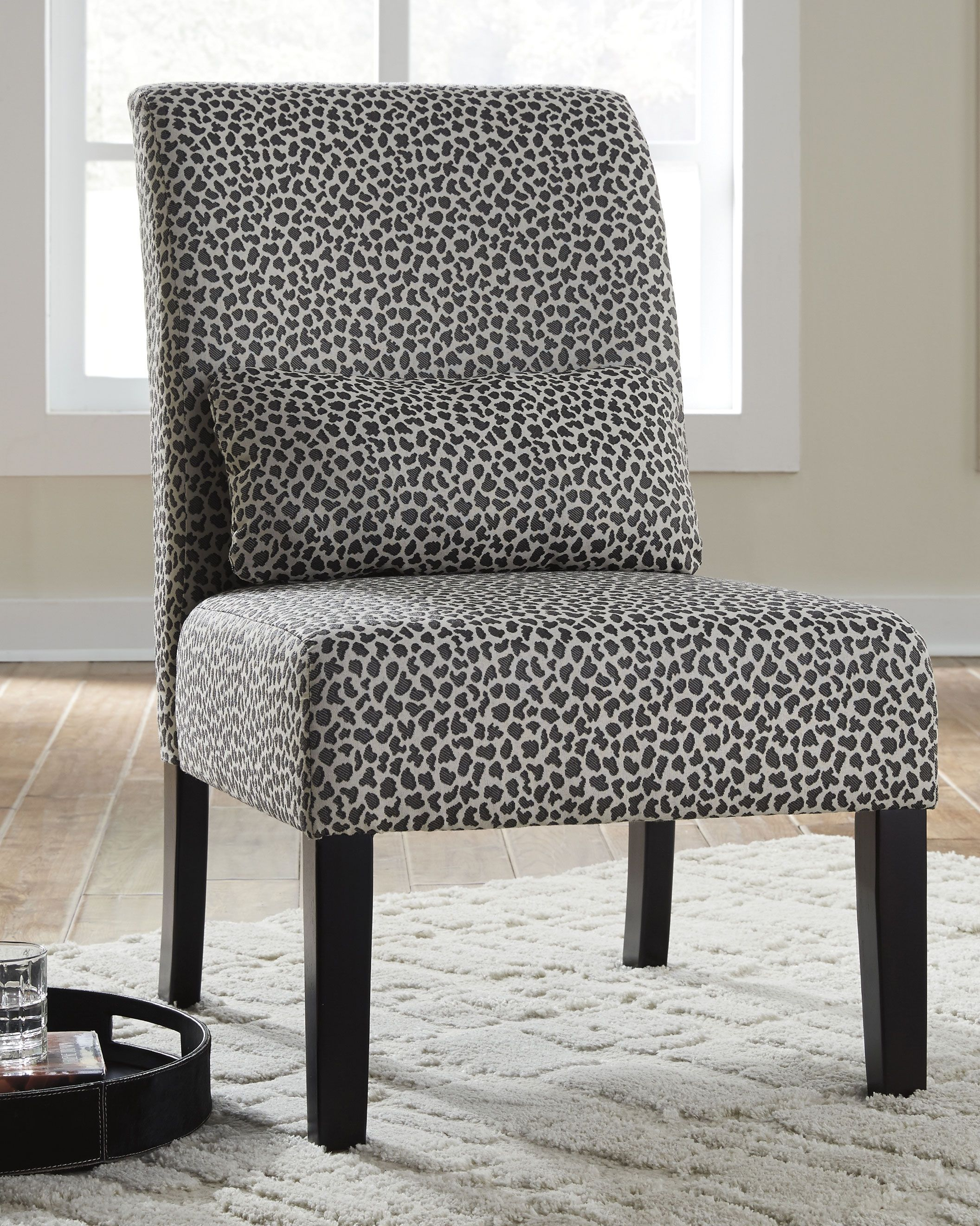 Sesto Accent Chair Gray Ivory Accent Chairs Printed Accent Chairs