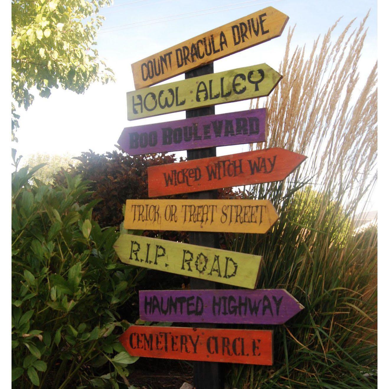 Halloween Street Names Vinyl Decals (Set Of 4). $8.50, Via Etsy.