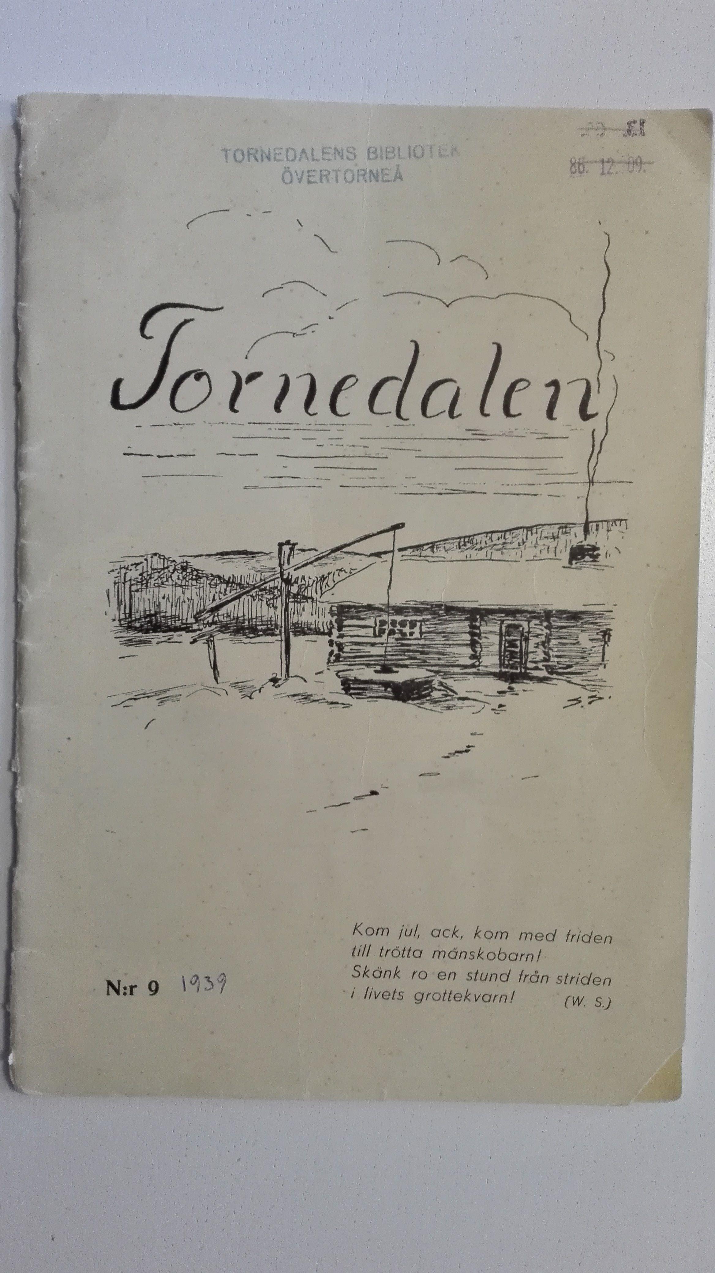 Tidsskrift från 1939 där det står en del om gamla Akamella