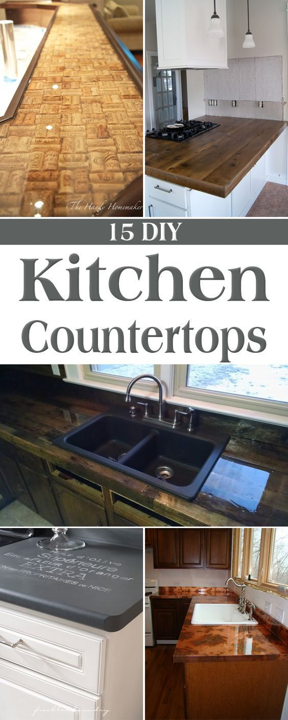 15 Amazing DIY Kitchen Countertop Ideas | Ideen für die Küche, Die ...