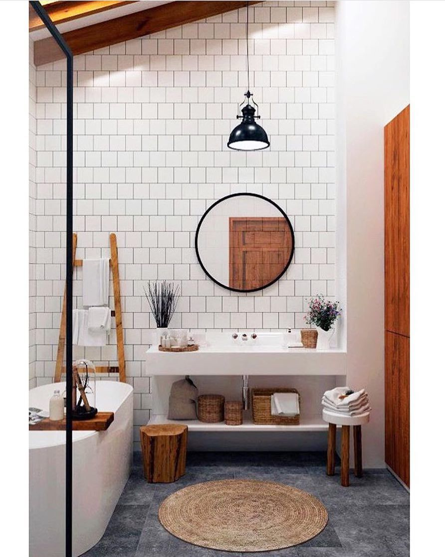 Floor to ceiling bathroom tile? Yes please! For an impactful look ...