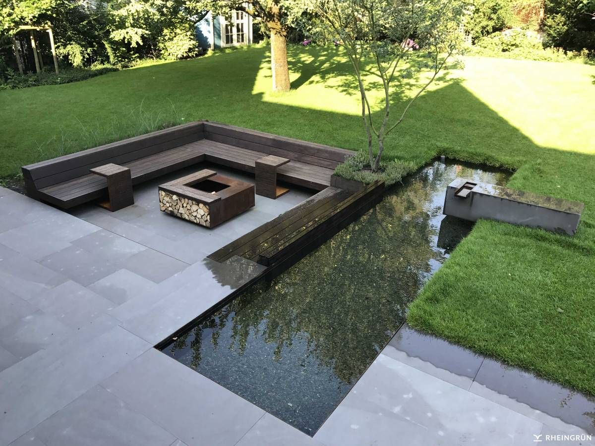 Photo of Idea per un moderno giardino terrazzato con area lounge individuale