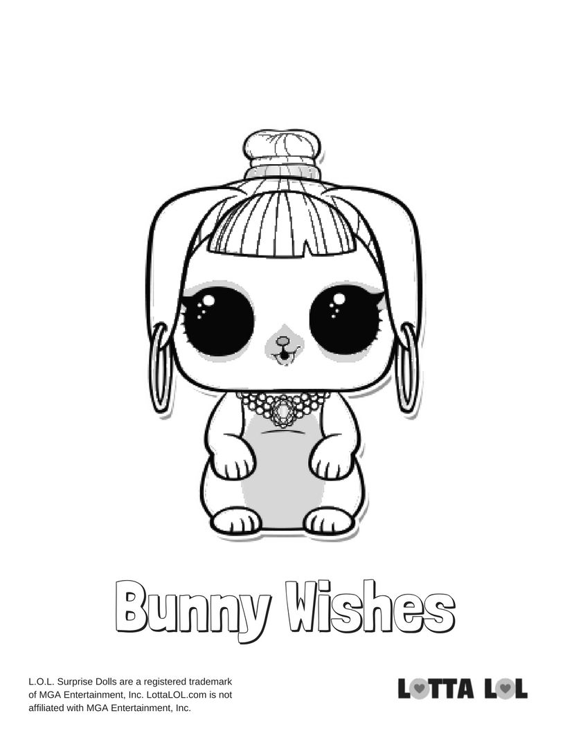 Bunny Wishes Coloring Page Lotta Lol Lol Dolls Kids Printable Coloring Pages Coloring Books