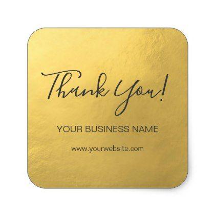 Elegant Faux Gold Foil Business Thank You Labels Craft Supplies