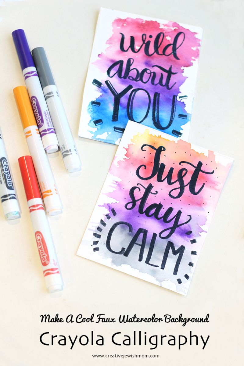 How To Diy Easy Watercolor Background And Calligraphy Easy