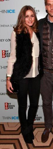 Vest – Haute Hippie, Necklace – Carrera y Carrera necklace, Bracelet – Cartier, Shoes – Christian Louboutin, Purse – Lulu Guinness (2012)