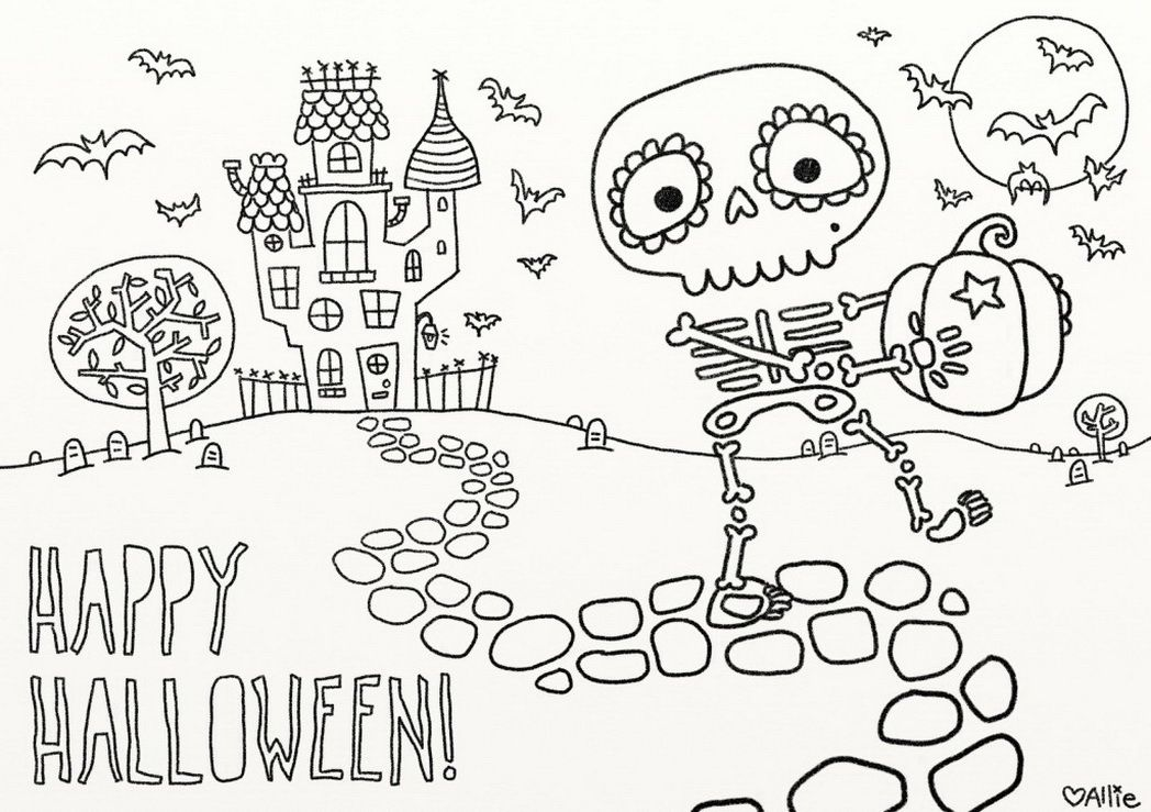 Free Halloween Coloring Pages The Sun Flower Pages In 2020 Free Halloween Coloring Pages Halloween Coloring Halloween Coloring Book