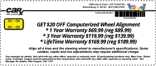 Get 20 Off Computerized Wheel Alignment At Carx With This