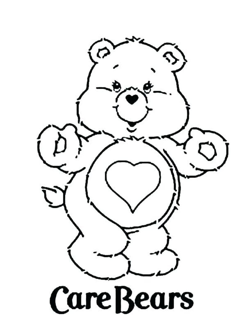 Printable Care Bear Coloring Pages For Your Kids Free Coloring Sheets In 2020 Bear Coloring Pages Valentine Coloring Pages Disney Coloring Pages
