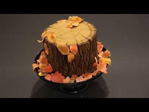 Baumstumpf torte fondant baumrinde herbstliche for Kuchen gewinnspiel