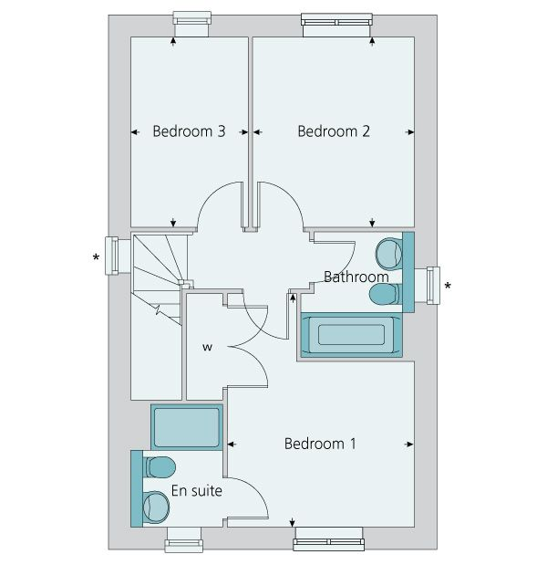 First floor plan image of the The Southwold – Bovis Homes Floor Plans