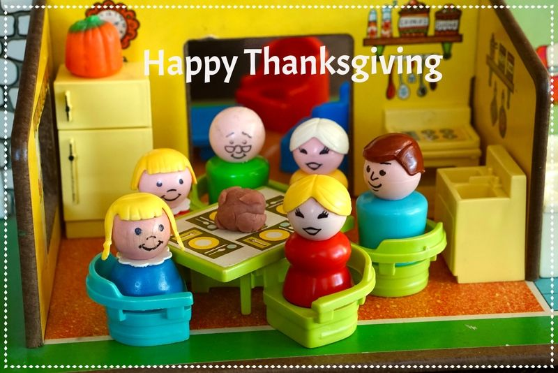 Happy Thanksgiving from the vintage fisher price little people (#909 ...