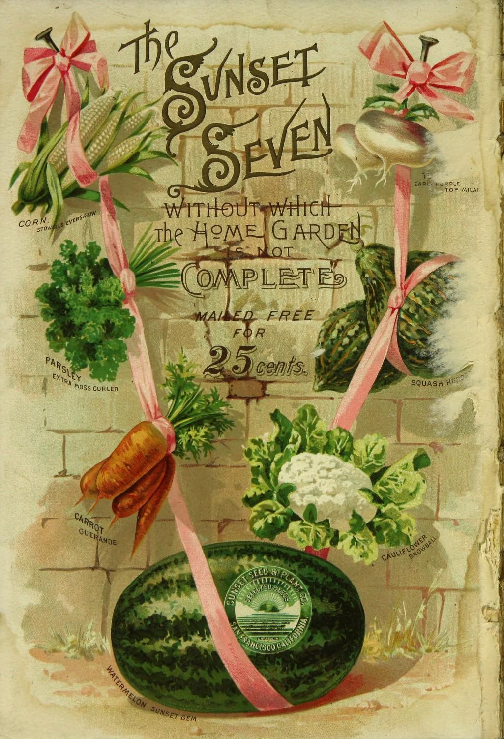 A collection of nursery and seed catalogs published by