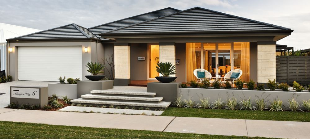 contemporary front garden design