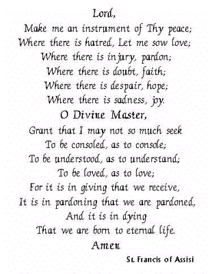 aa guided meditation st francis prayer