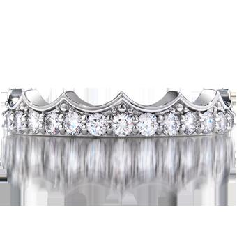 Diamond Bar Coronet Band! Such a Princess ring!! <3