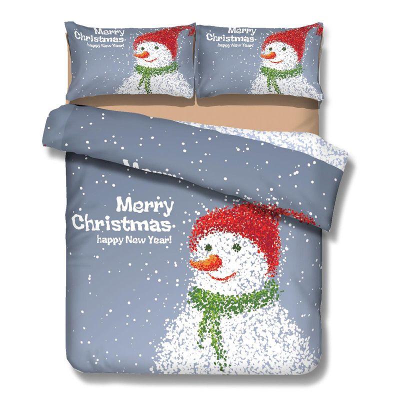 high quality polyester Christmas bedding set ,3pcs comforter set
