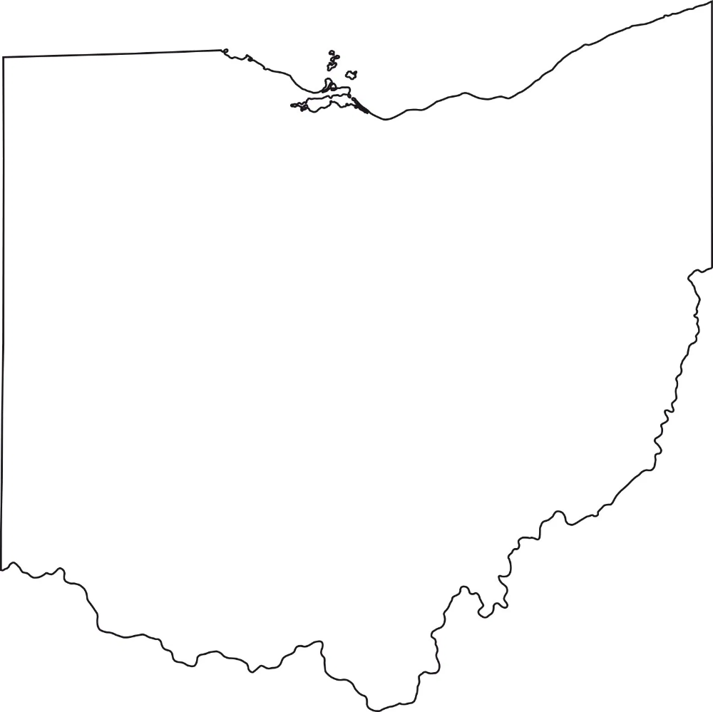 Ohio Blank Outline Map Large Printable High Resolution And Standard Map Whatsanswer In 2020 Large Printable Ohio Map Map