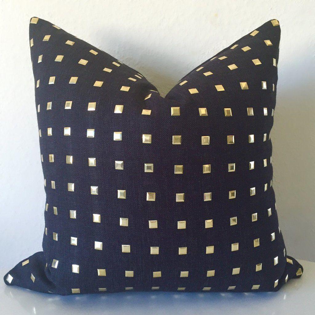 Studs pillow cover black decor gems pinterest pillows