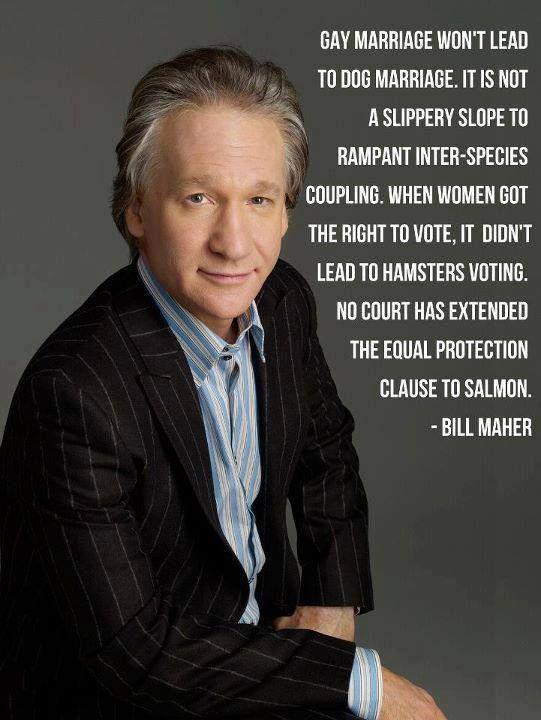 Bill Maher On Same Sex Marriage Views Of A Progressive Bill