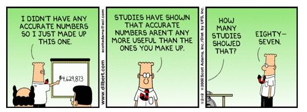 Numbers Accounting Humor Dilbert Comics Funny Friday Memes