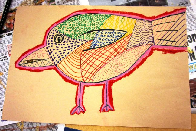 Textured Animals in Grade One | Art Lessons For Kids
