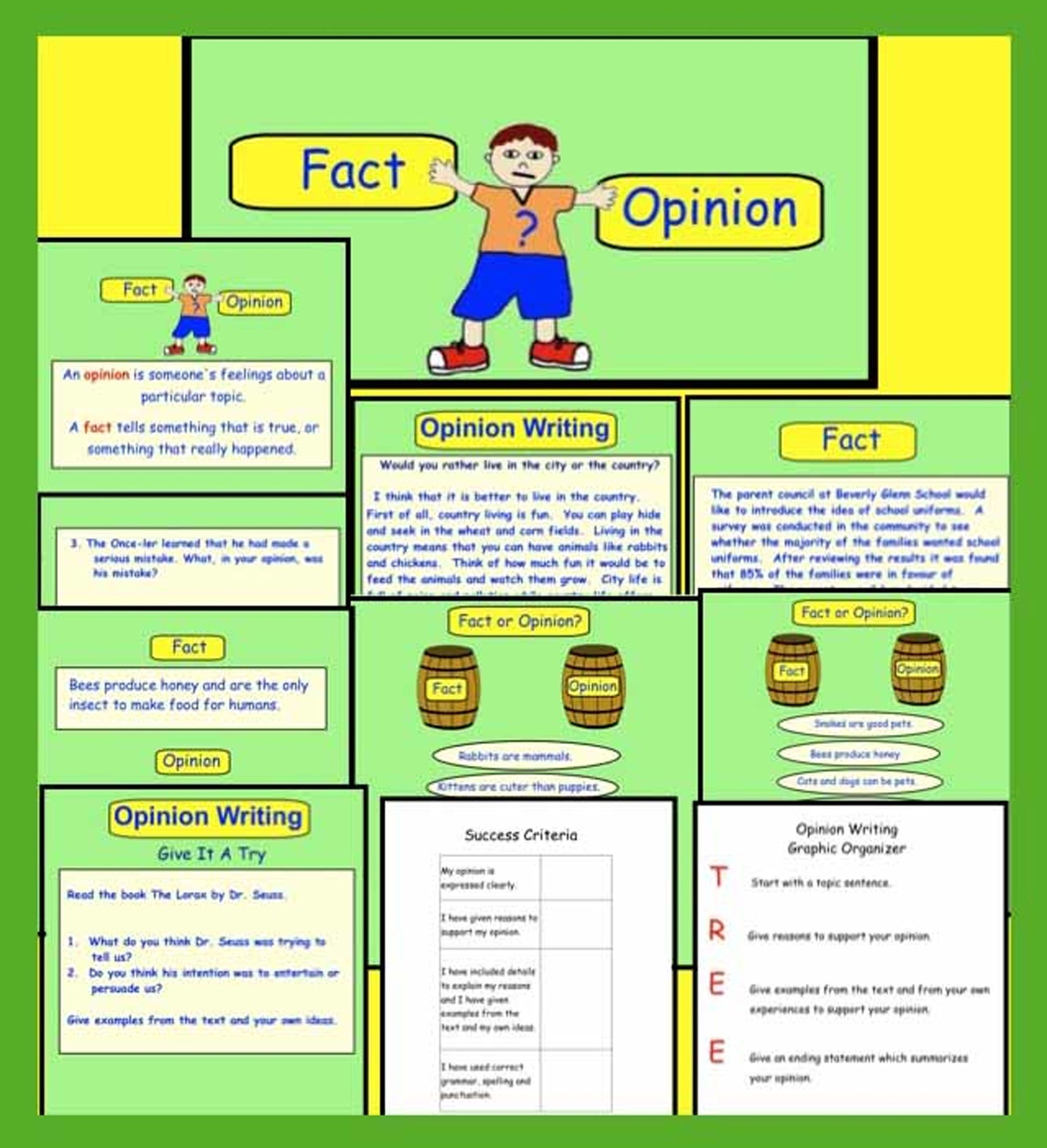 Fact Or Opinion Smart Notebook File For Gr 3 5