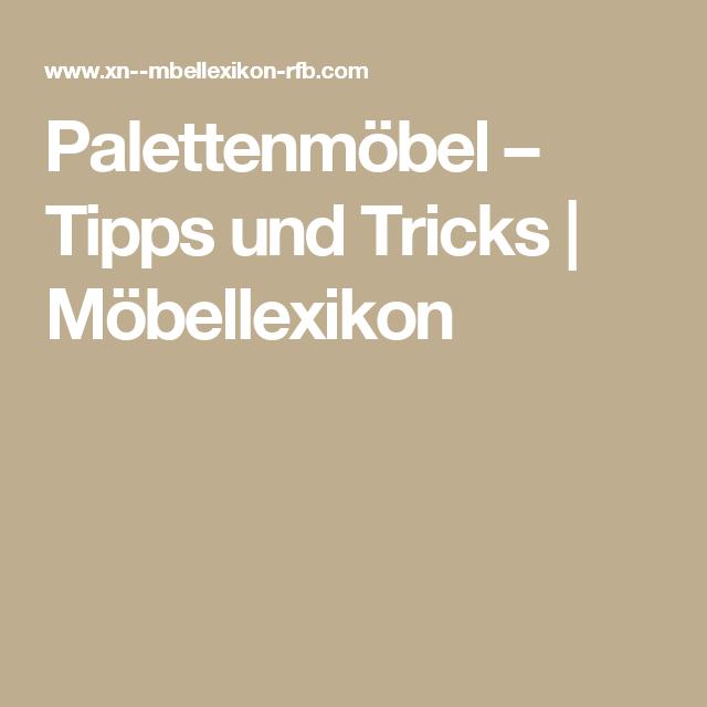 Palettenmöbel – Tipps und Tricks | Möbellexikon
