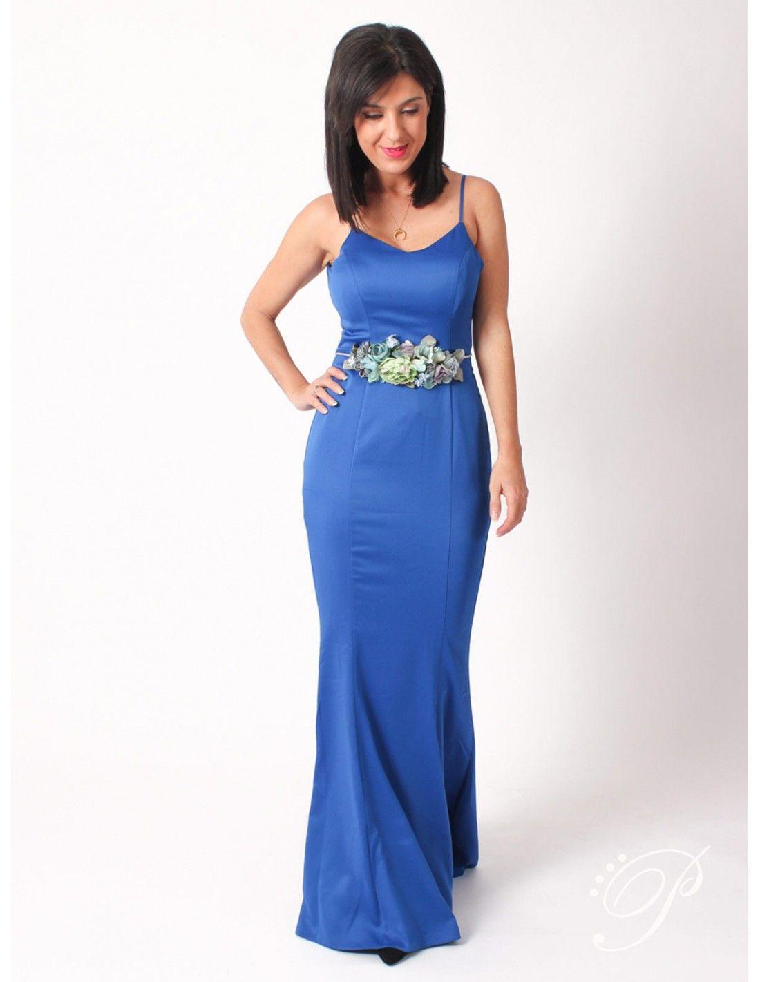 d292763f0a Vestido Raisa   Lipsy London - Vestido de corte sirena en azul eléctrico en  tejido de