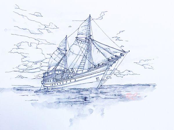 Lagi Latihan Sketsa Kapal Layar Skecth In 2019 Sailing