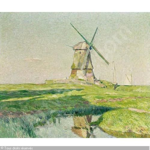 SYS Maurice - A WINDMILL IN A SUMMER LANDSCAPE