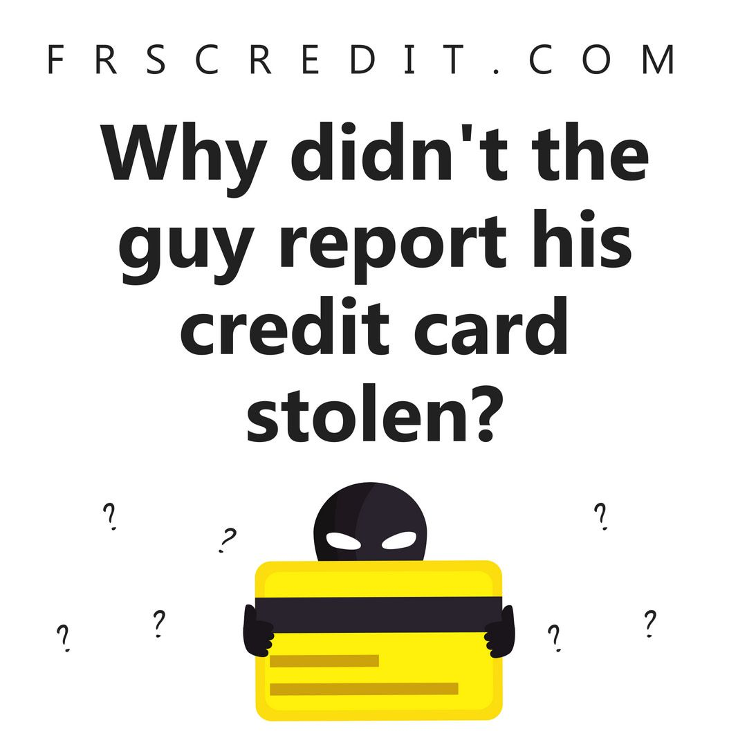 In All Seriousness If Your Credit Card Is Stolen Make Sure You
