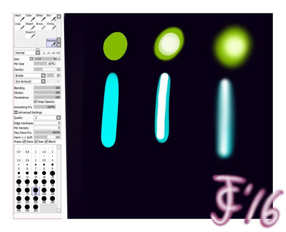 Custom Gaussian Blur Brush Sai Settings By Jamescranmer