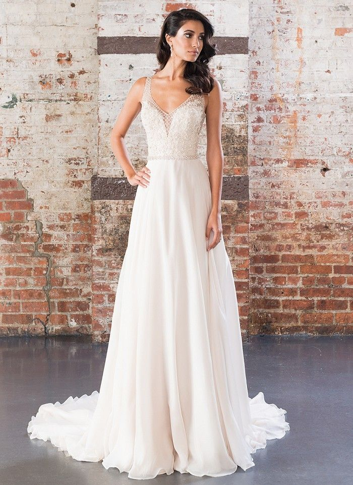 how much does the average wedding dress cost australia%0A Justin Alexander         Jaehee Bridal Atelier  aline  vneck  straps   bridal