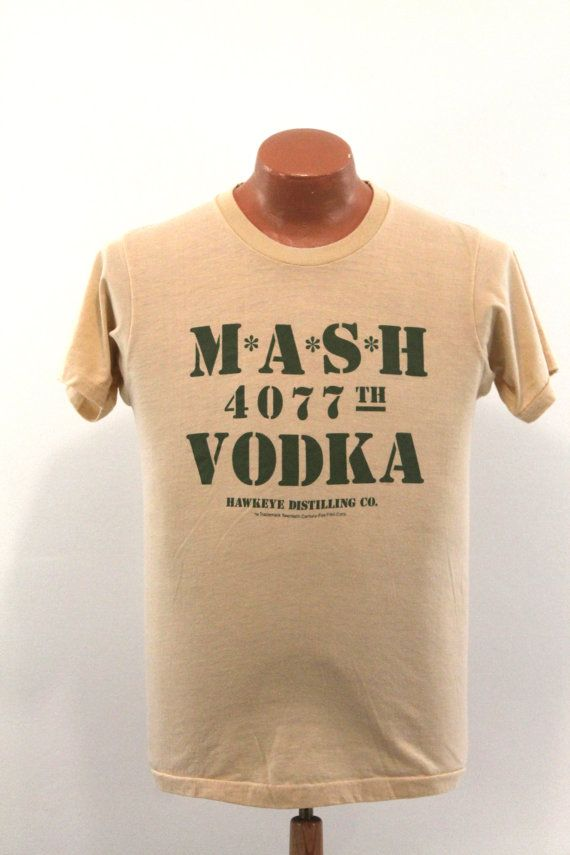 dd0c2715 Mash TShirt Vintage 80s TV Show MASH Vodka by BlueCollarVintage, $30.00