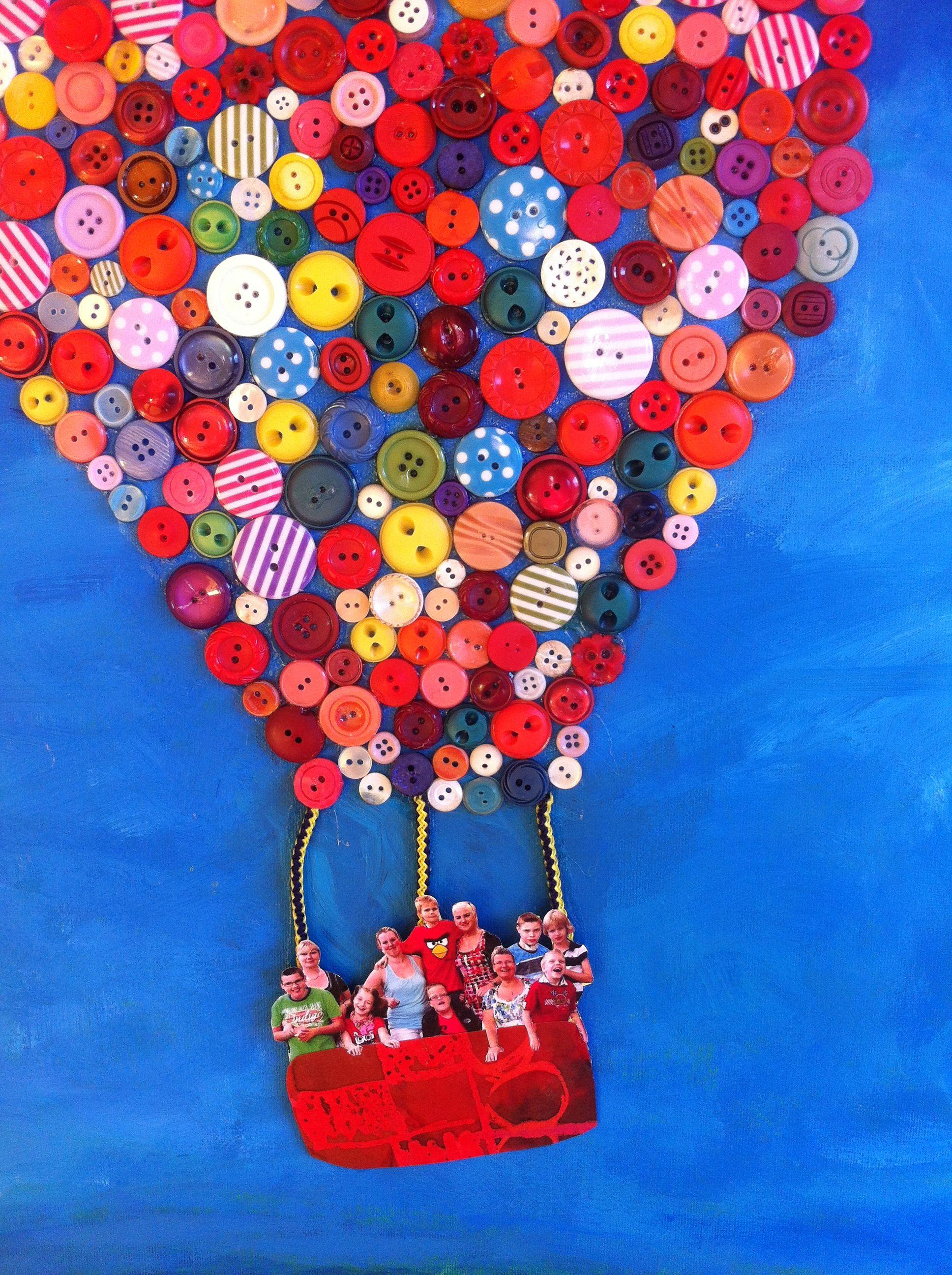 Bekend groepscadeau Luchtballon van knopen met foto's - Knutselen  XU74