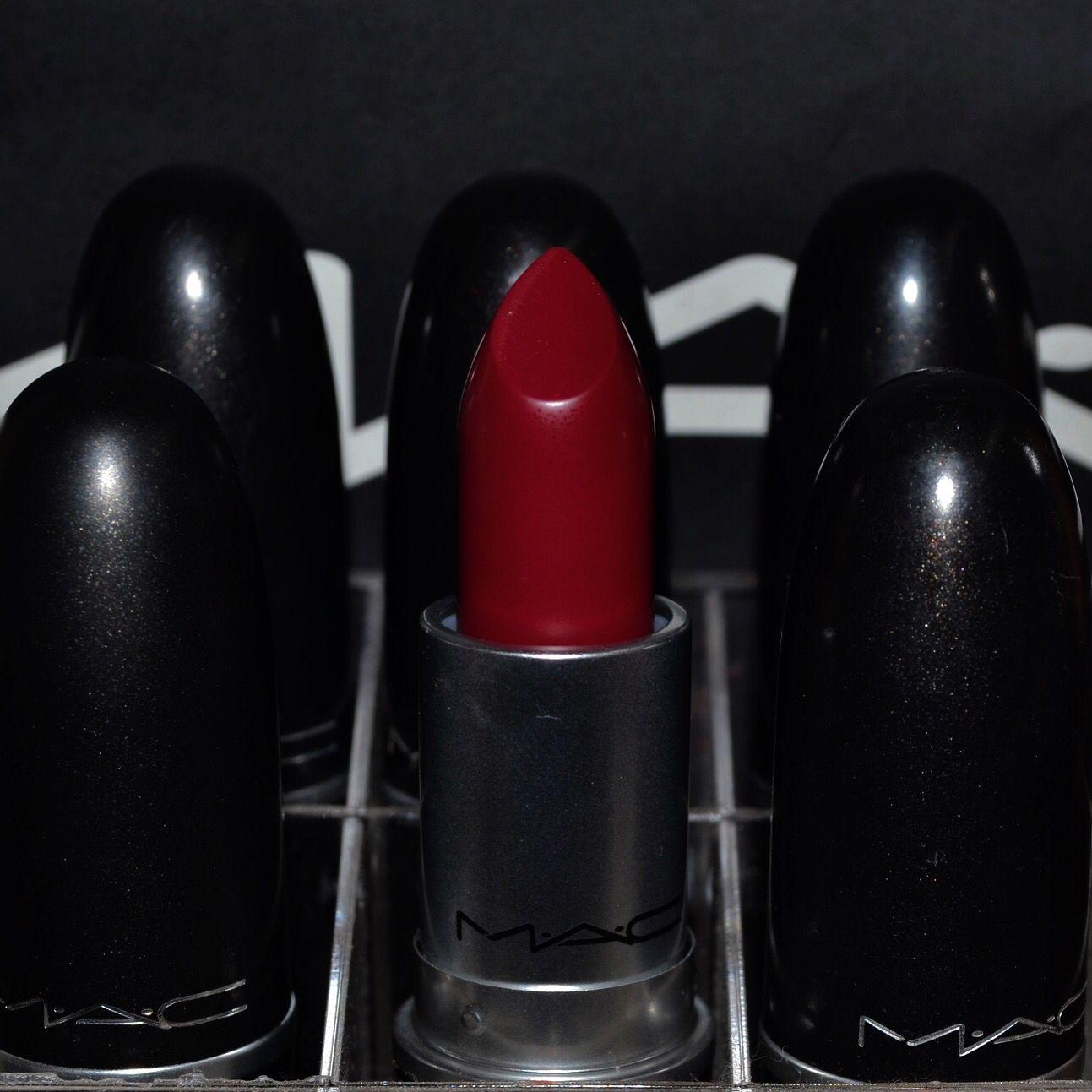Mac cosmetics winter fall lipstick d for danger matte ruj bordo dark ...