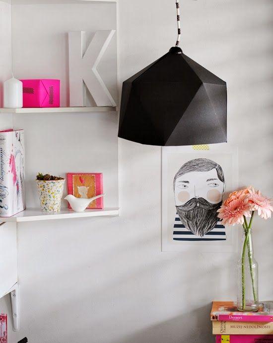 DIY kirigami paper lamp // p e p e r m i n t