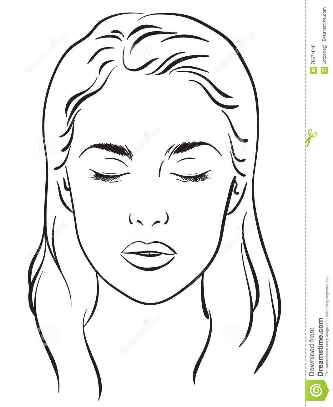 Gesicht Diagramm Make Up Kunstler Blank Vorlage 7