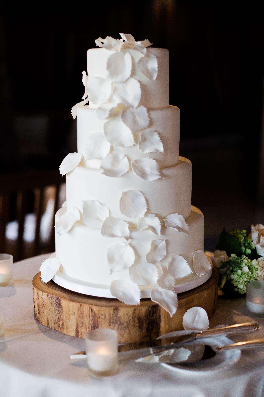 Sugar Aspen LeafDecorated Fondant Cake Diy wedding cake